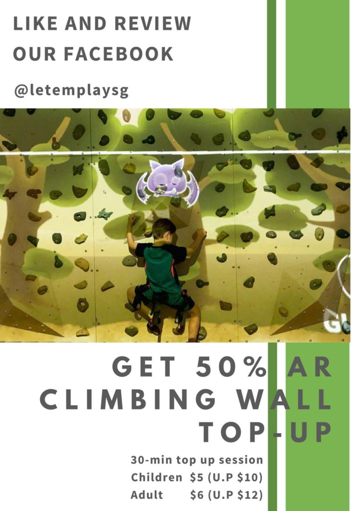 Singapore AR Climbing Wall Promotion