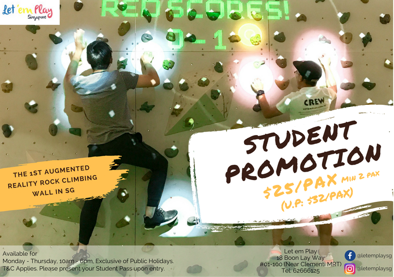 Student Promo Poster AR Climbing Wall Let em play